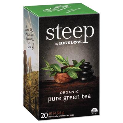 Bigelow Steep Tea, Pure Green, 0.91 oz. Tea Bag, 20/Box
