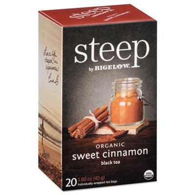 Bigelow Steep Tea, Sweet Cinnamon Black Tea, 1.6 oz. Tea Bag, 20/Box