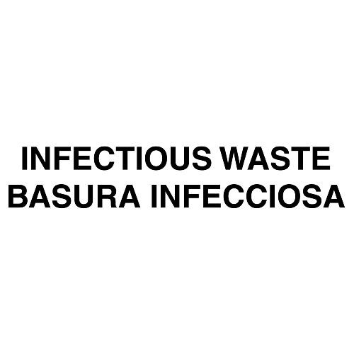 Bilingual Label - Infectious Waste; 7 Ih x 10 Iw