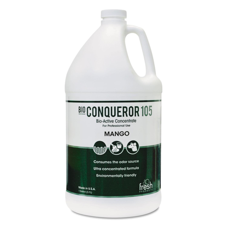 Bio Conqueror 105 Enzymatic Odor Counteractant Concentrate, Mango, 1 Gallon, 4/Carton