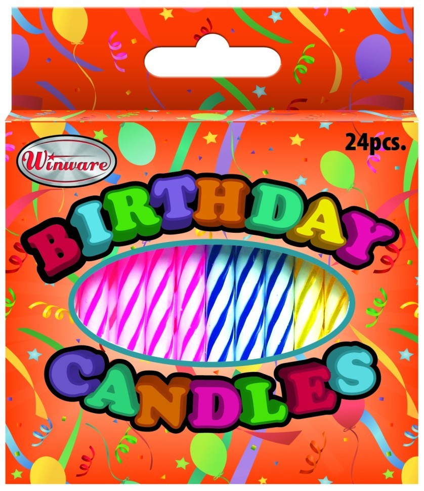 Birthday Candle, 24Pcs/Box, 36Box/Pack