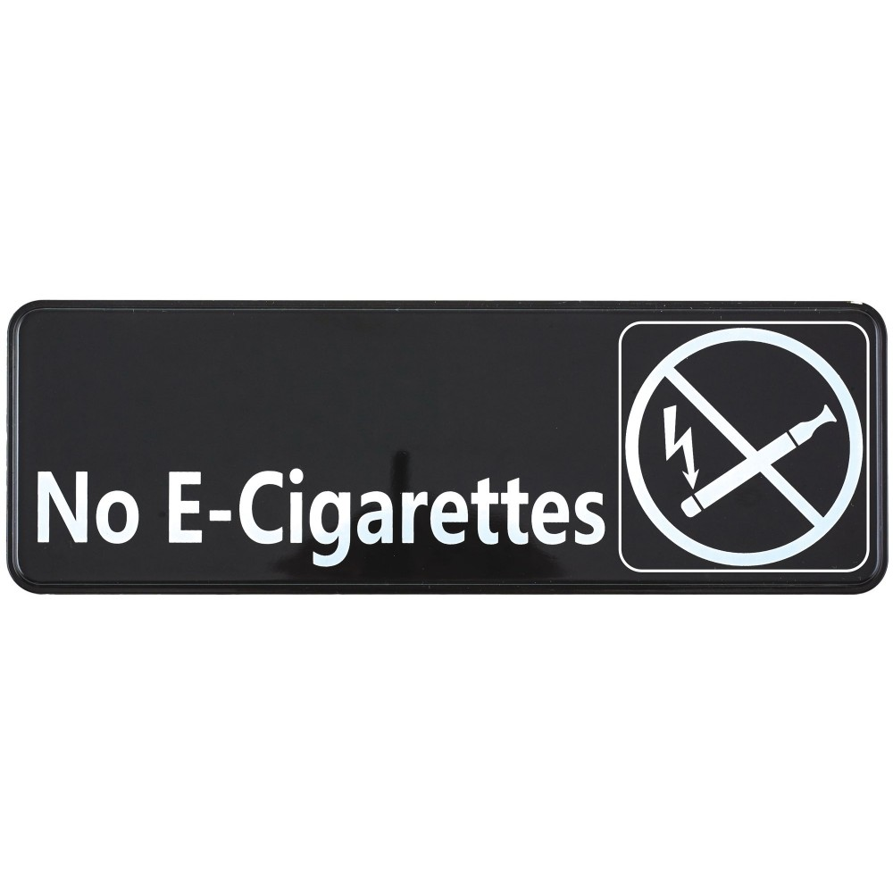 Winco Sgn 335 Black Quot No E Cigarettes Quot Information Sign 3