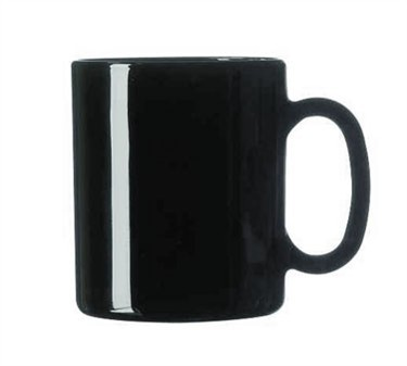 Cardinal 73442 Arcoroc Black 10.5 oz. Fully Tempered Glass Mug