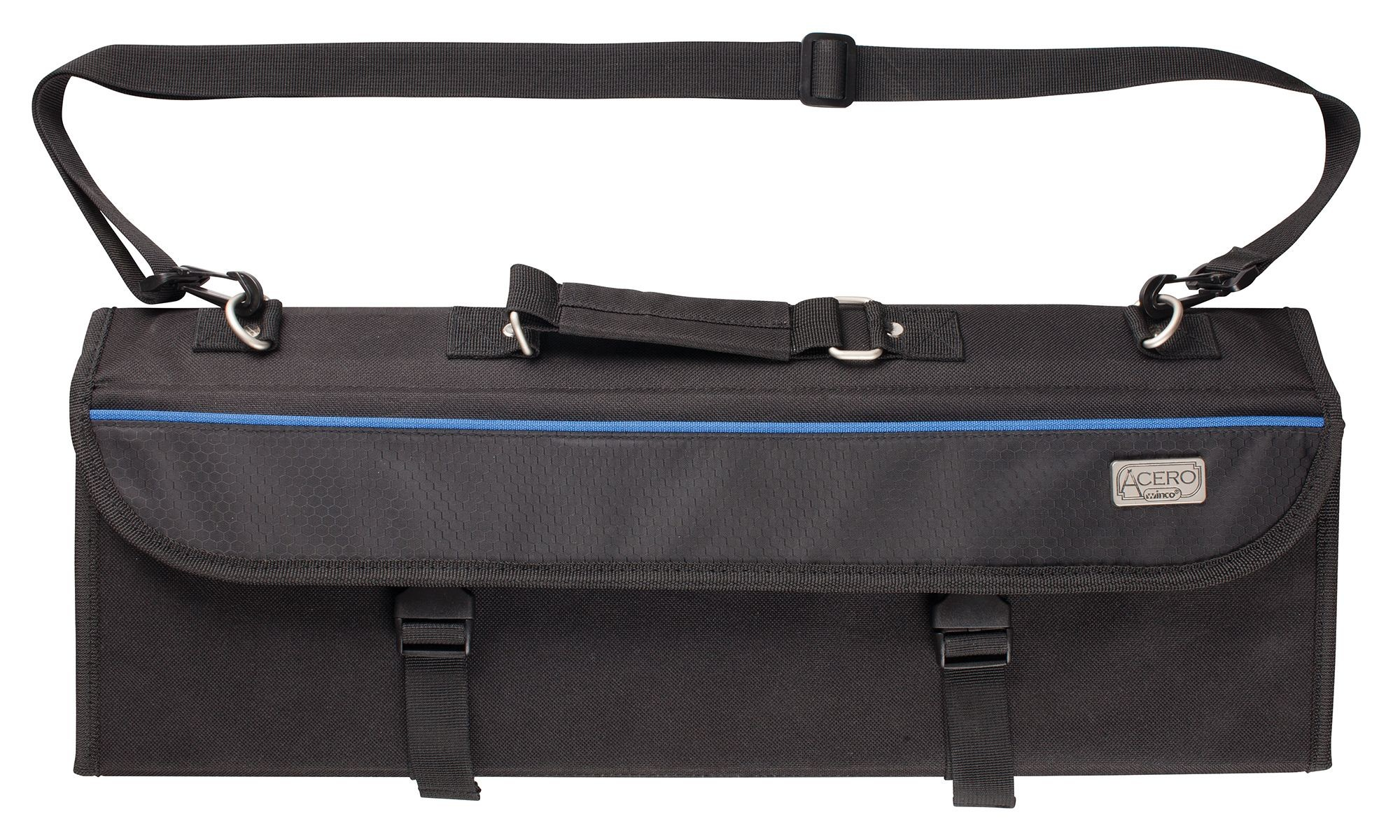 Winco KBG-10 10-Compartment Black Cutlery Knife Bag