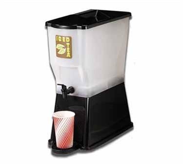 TableCraft 353DP Black 3 Gallon Slimline Beverage Dispenser with Standard Faucet