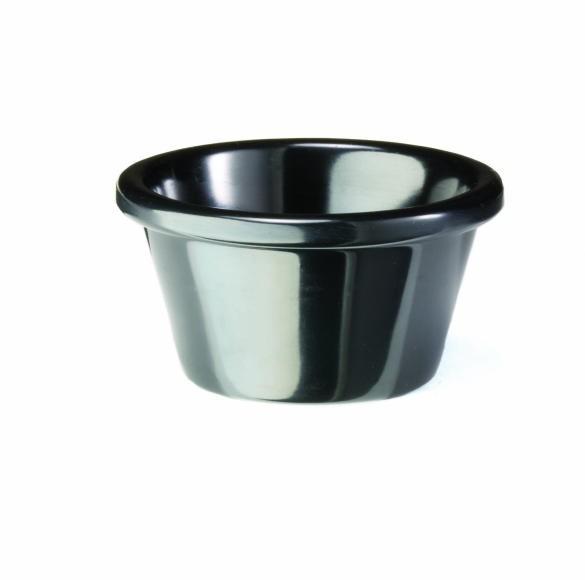 TableCraft RAM3BK Black 3 oz. Melamine Ramekin