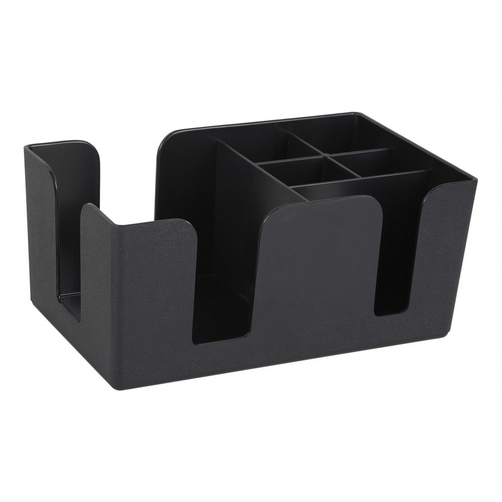 Black 6-Compartment Bar Caddy