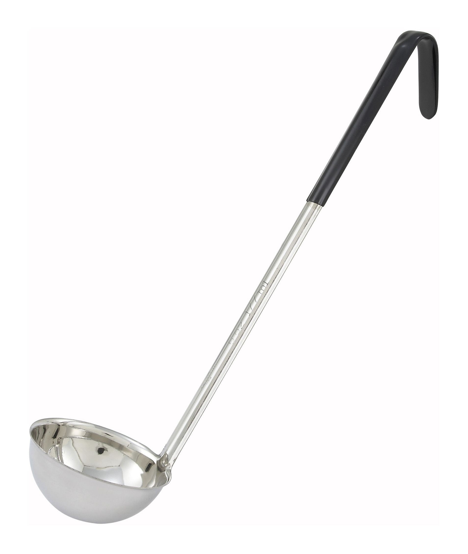 Black 6 Oz. One-Piece Color-Coded Ladle