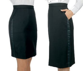 Henry Segal 6101 Black Above-The-Knee Skirt