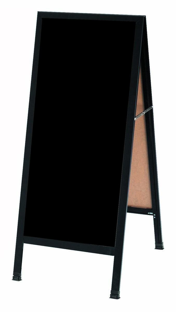 "Aarco Products BA-3BP A-Frame Sidewalk Black Acrylic  Board  with Black Aluminum Frame 18""W x 42""H"