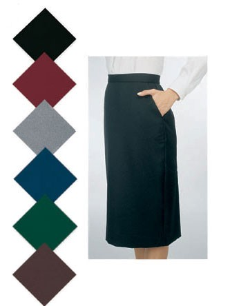 Black Below-The-Knee Basic Skirt - 27