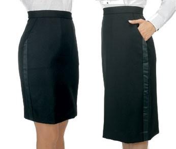 Henry Segal 6201 Black Below-The-Knee Skirt