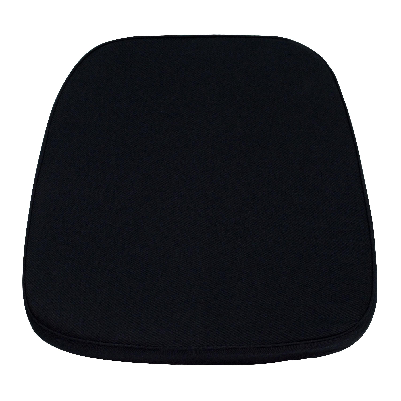Flash Furniture LE-L-C-BLACK-GG Soft Black Fabric Chiavari Chair Cushion