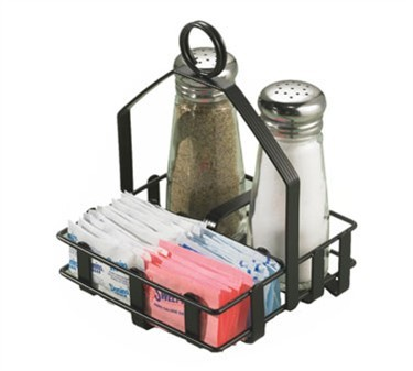 Black Coated S&P/Sugar Packet Combination Rack