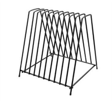 Franklin Machine Products  226-1122 Black-Coated Steel 10-Cutting Boards Storage Rack