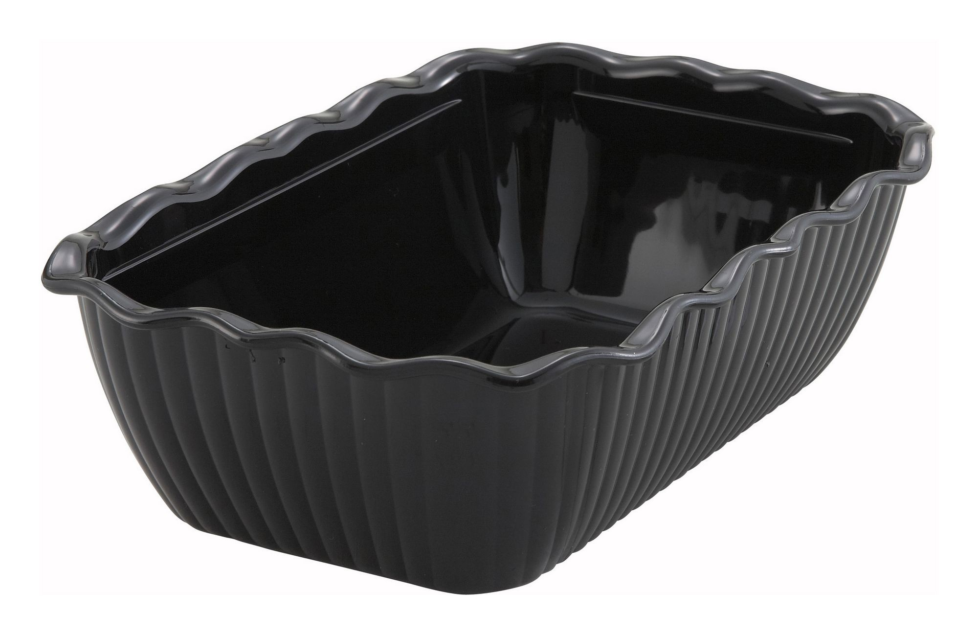 Black-Colored Deli Crock - 10 X 7 X 3 (Cover not included)