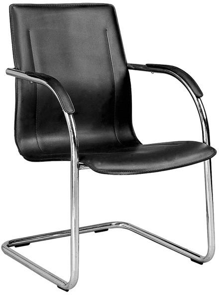 Flash Furniture BT-509-BK-GG Black Contour Side Chair