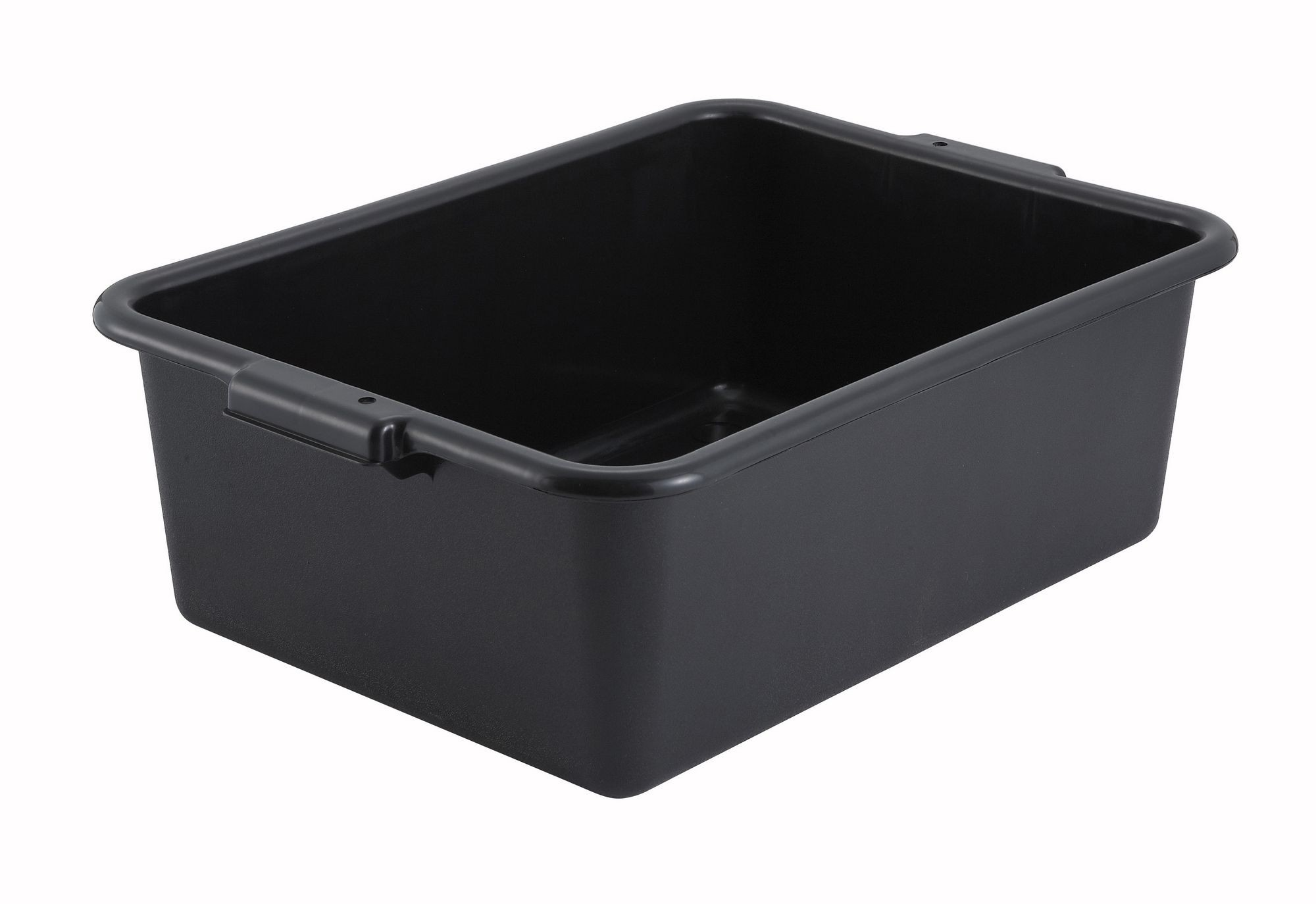 "Winco PL-7K Black Dish Box 20-1/4"" x 15-1/2"" x 7"""