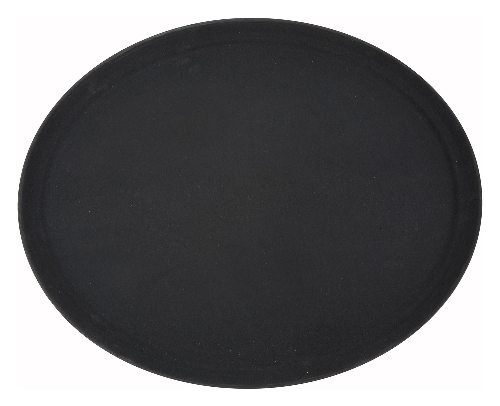 "Winco TRH-2722K Black Easy Hold Oval Tray 22"" x 27"""