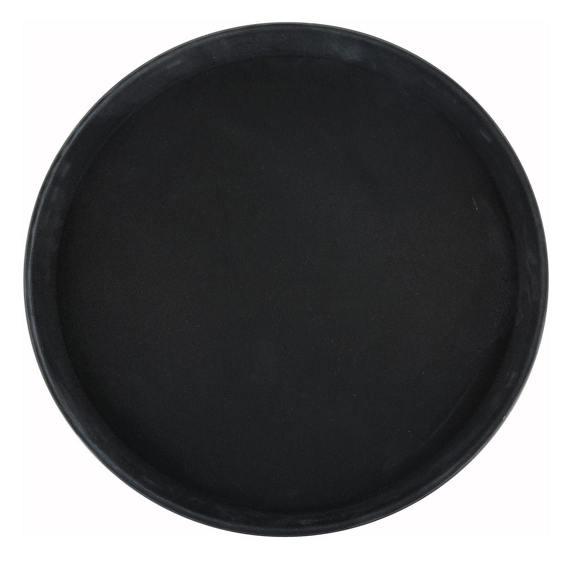 Winco TRH-16K Black Easy Hold Round Tray 16""