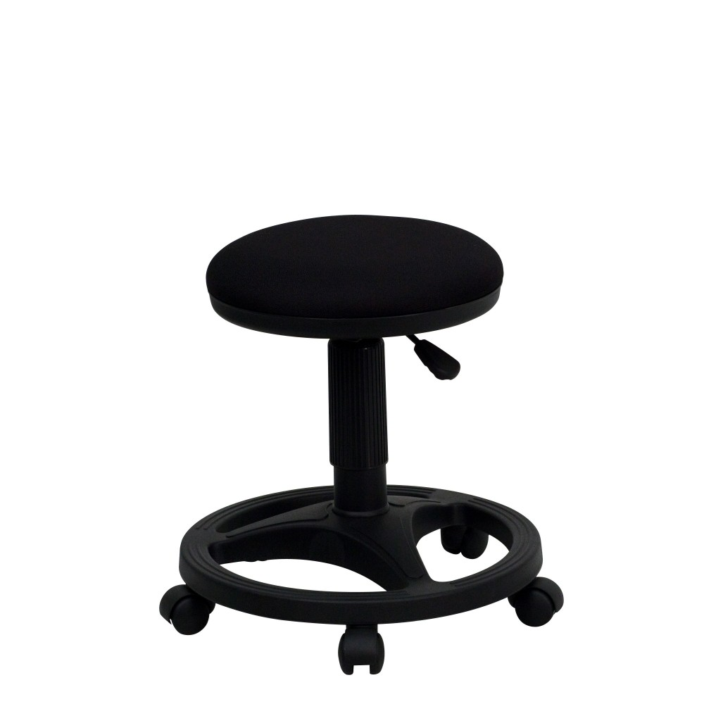 Flash Furniture WL-905DG-GG Black Ergonomic Stool with Foot Ring