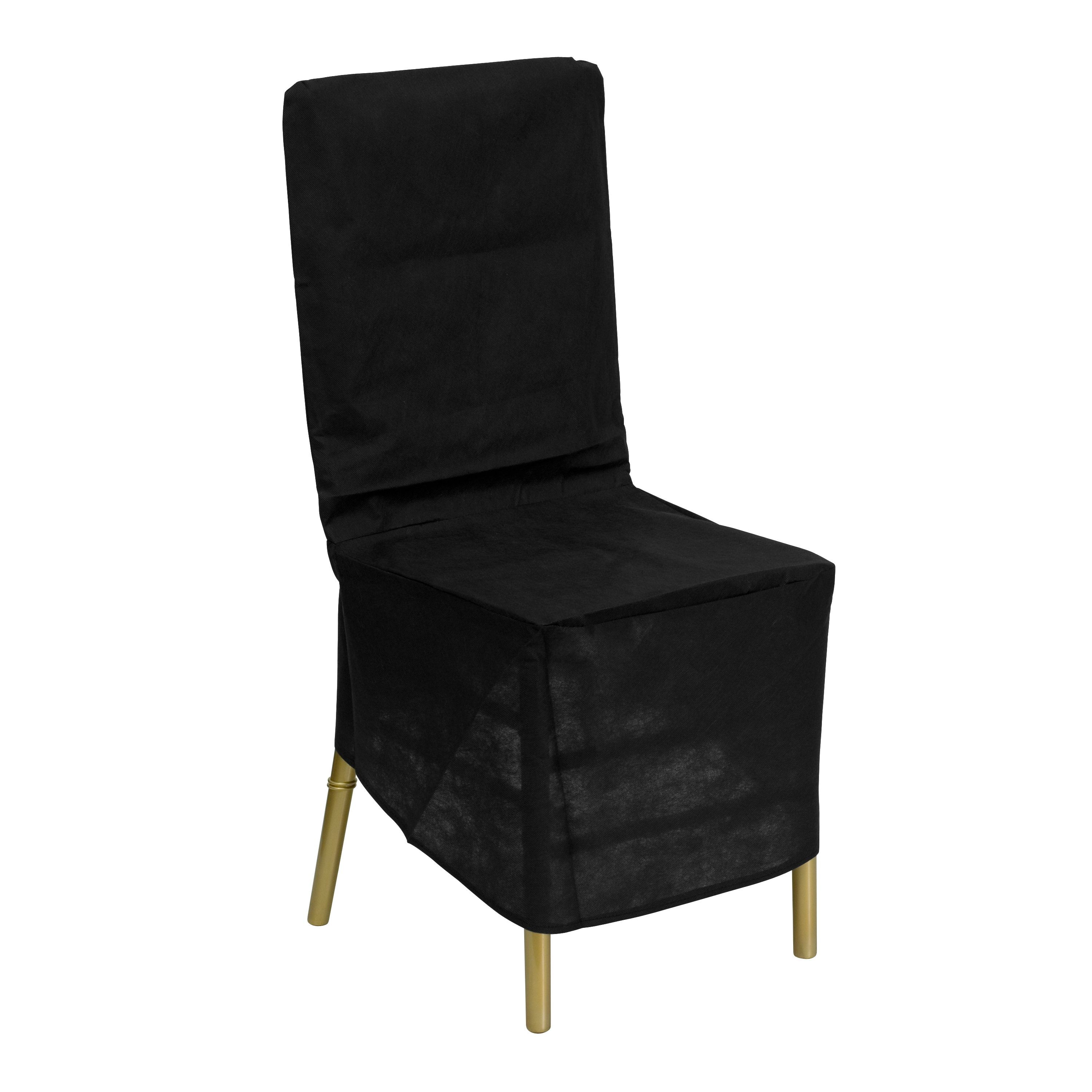 Flash Furniture LE-COVER-GG Black Fabric Chiavari Chair Storage Cover