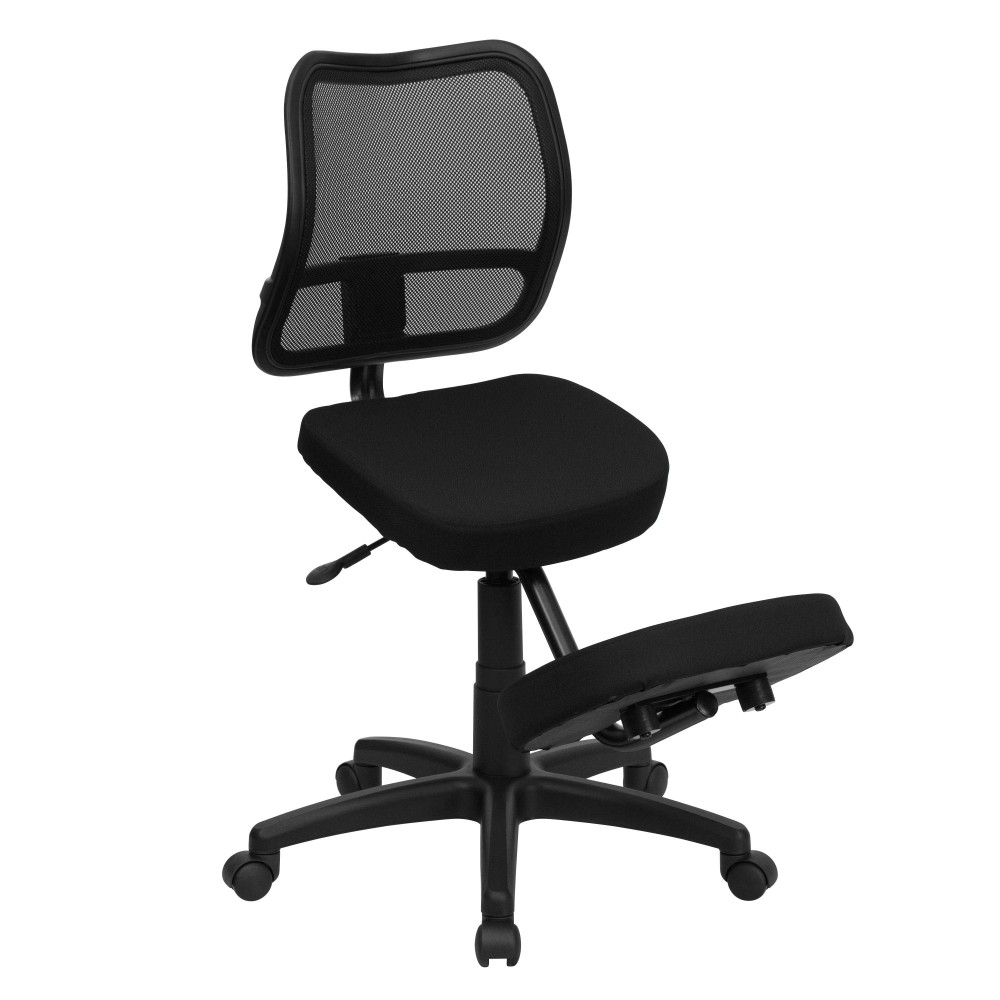 Black  Ergonomic Kneeling Chair with Mesh Back
