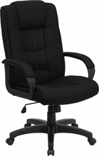 Flash Furniture GO-5301B-BK-GG Black Fabric High Back Executive Office Chair