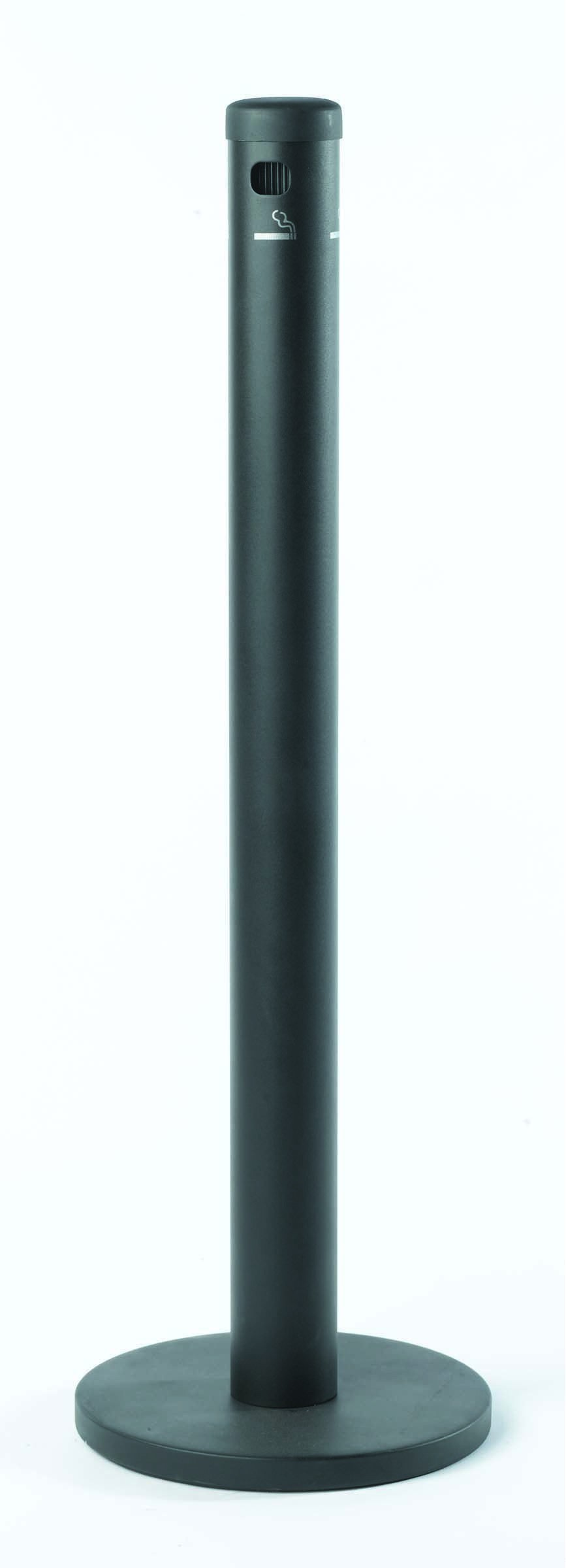 Aarco Products SB40F Black Floor Standing Cigarette Receptacle