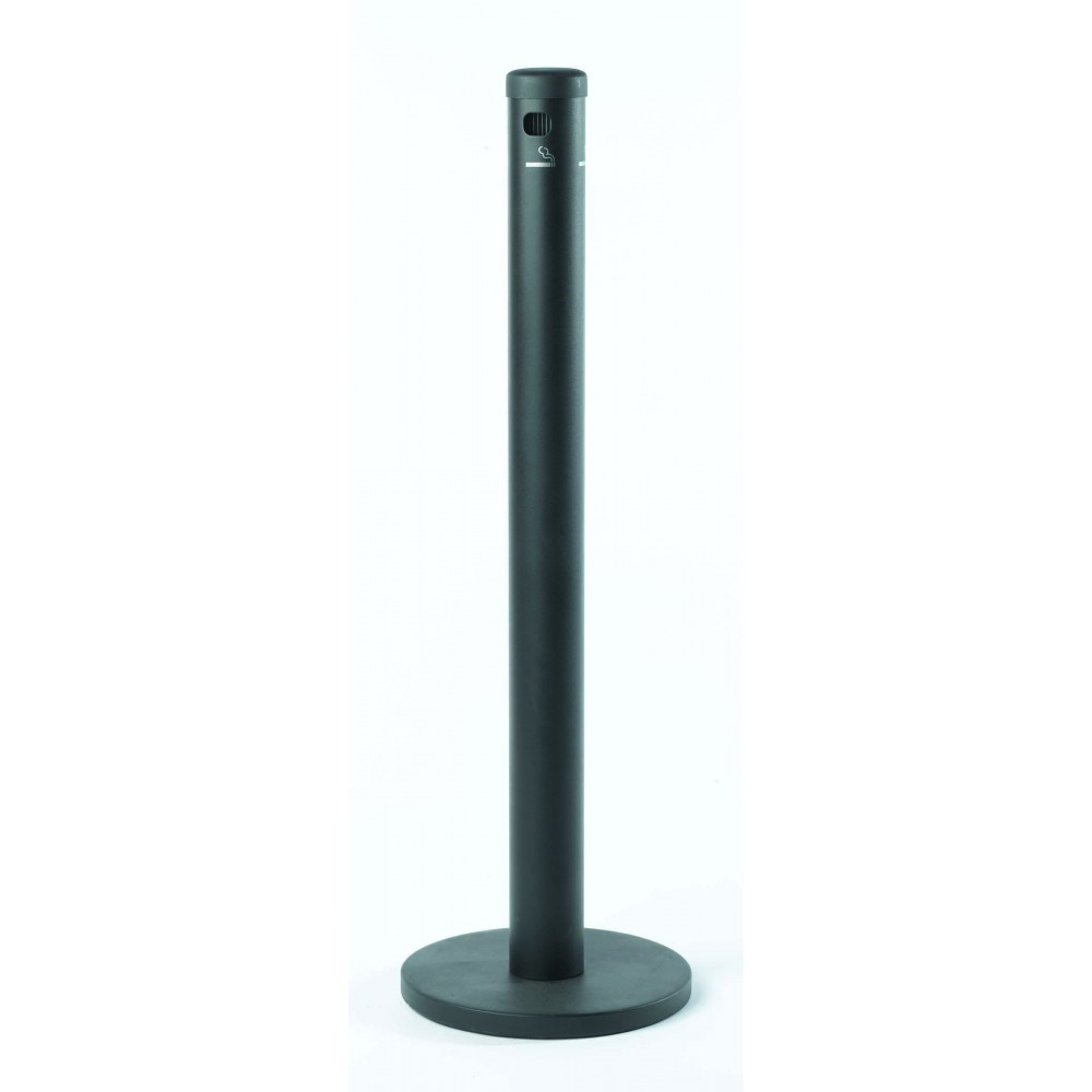 Black floor standing cigarette receptacles lionsdeal for Floor receptacle