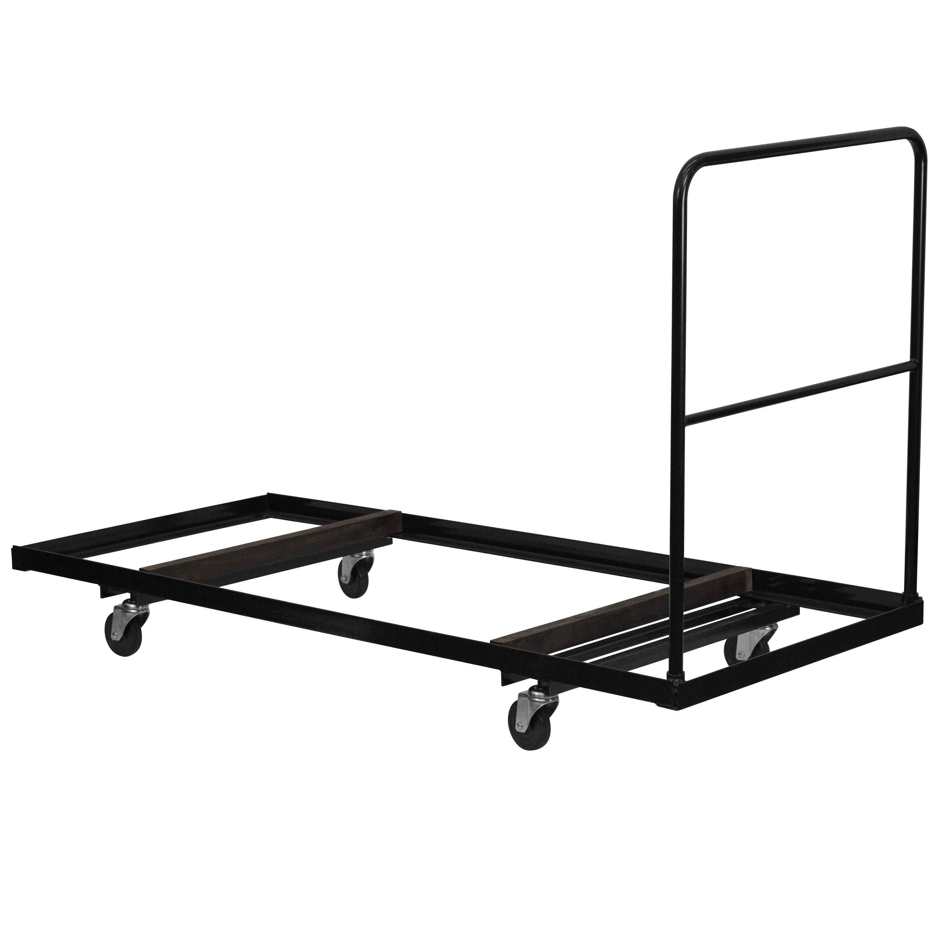 Flash Furniture NG-DY3072-GG Black Folding Table Dolly for Rectangular Folding Tables