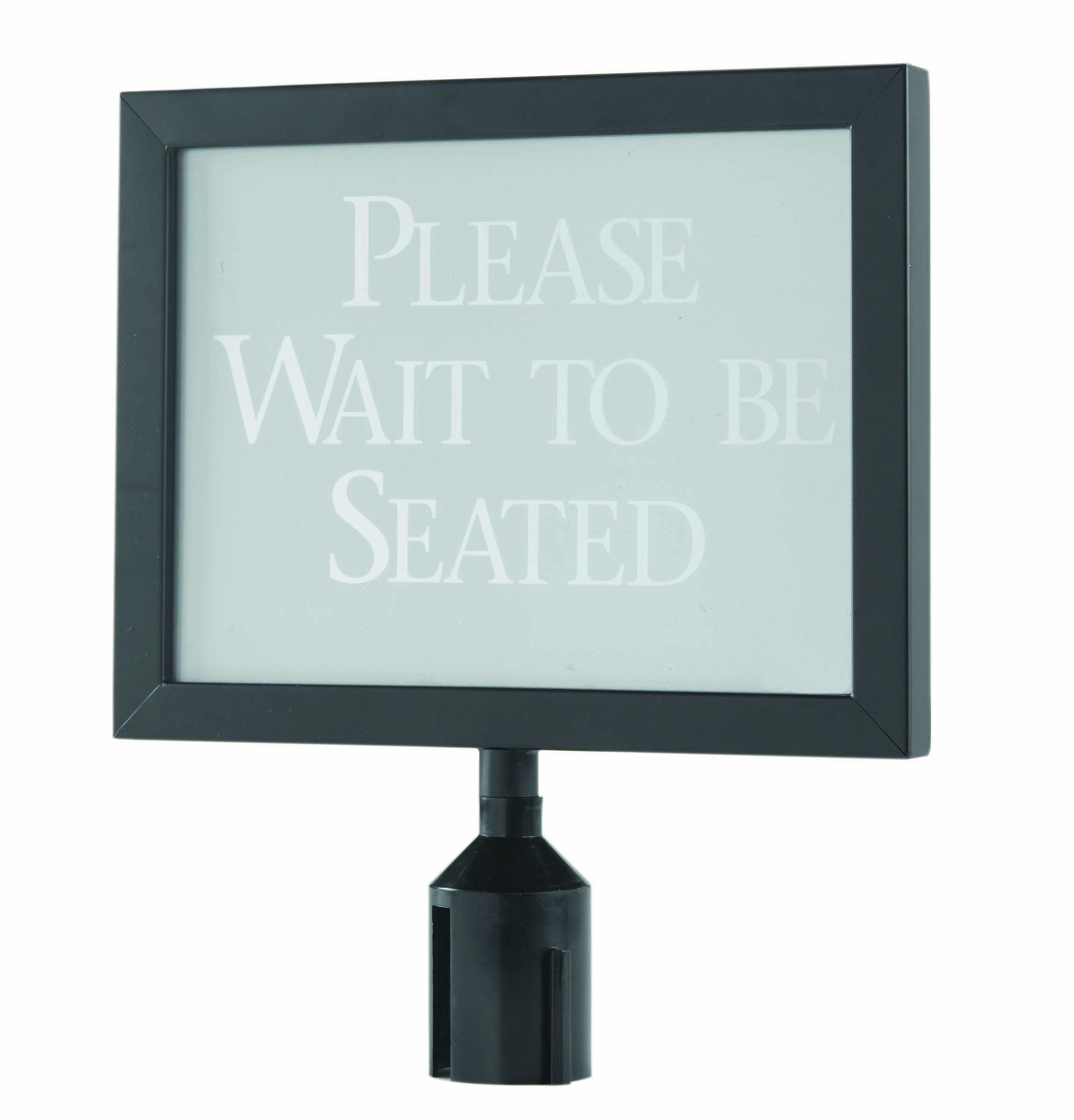 Black Form-A-Line Horizontal Sign Frame 11-1/8 x 14-1/8