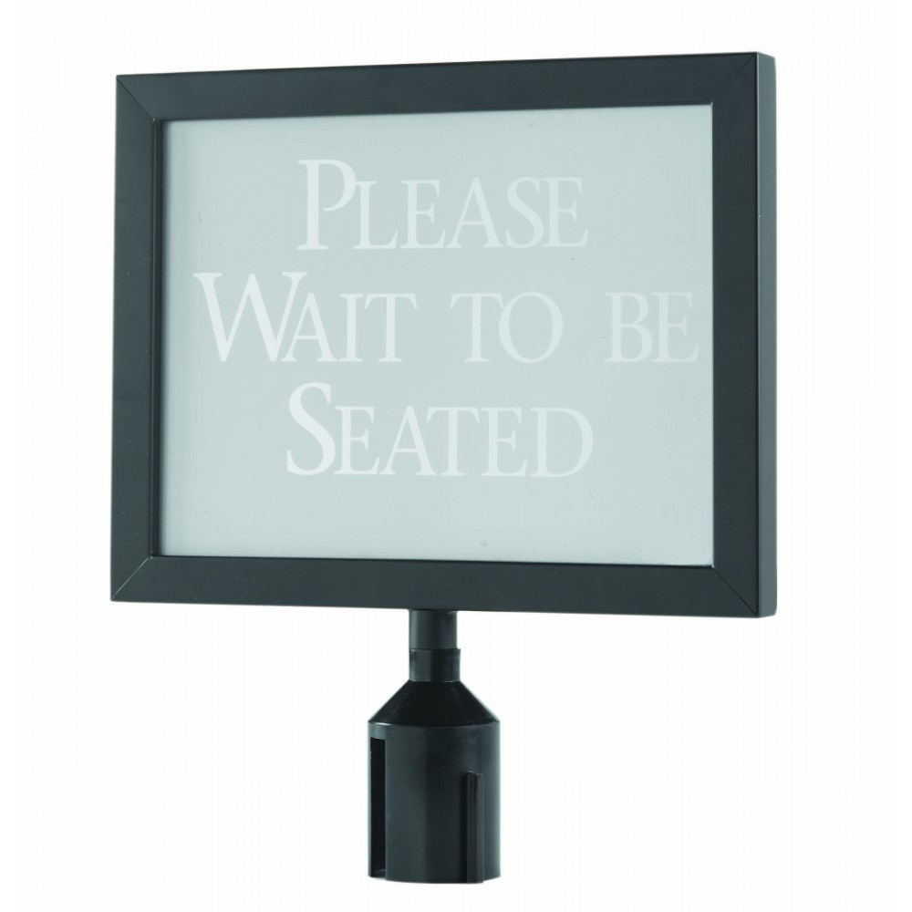 "Aarco Products HSF1114BK Form-A-Line Black Sign Frame, 11-1/8""H x 14-1/8"" W"
