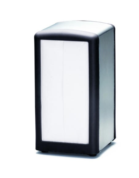 Black Full Size Napkin Dispenser - 4-5/8