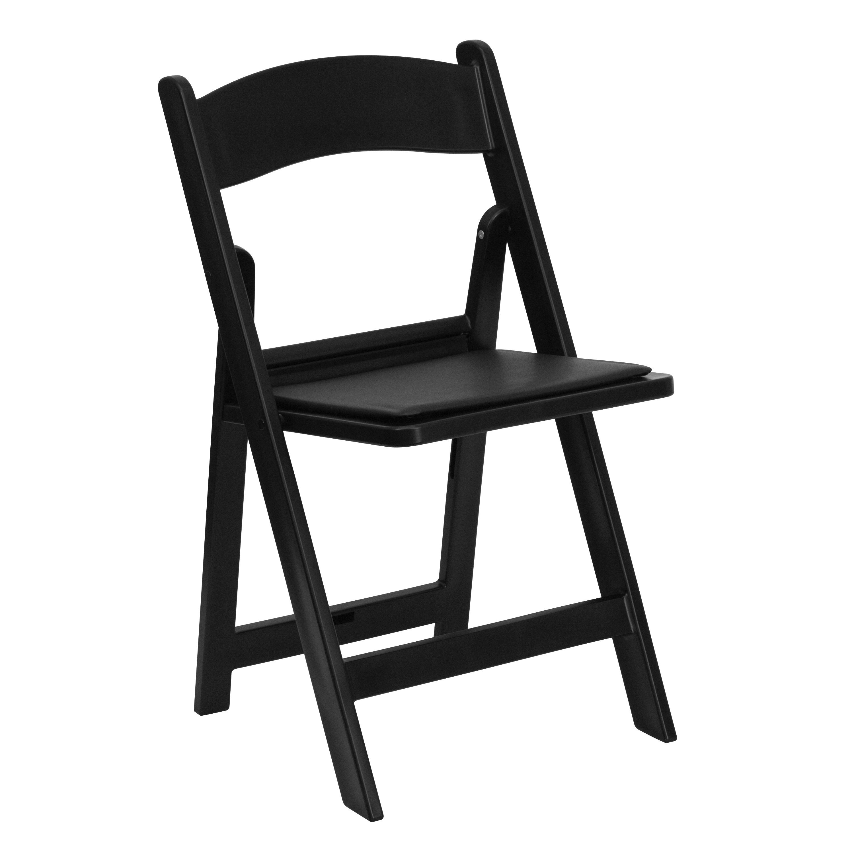 Flash Furniture LE-L-1-BLACK-GG Black Heavy Duty Resin Folding Chair