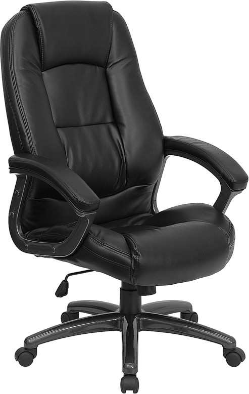 Flash Furniture GO-7145-BK-GG Black Leather Office Chair