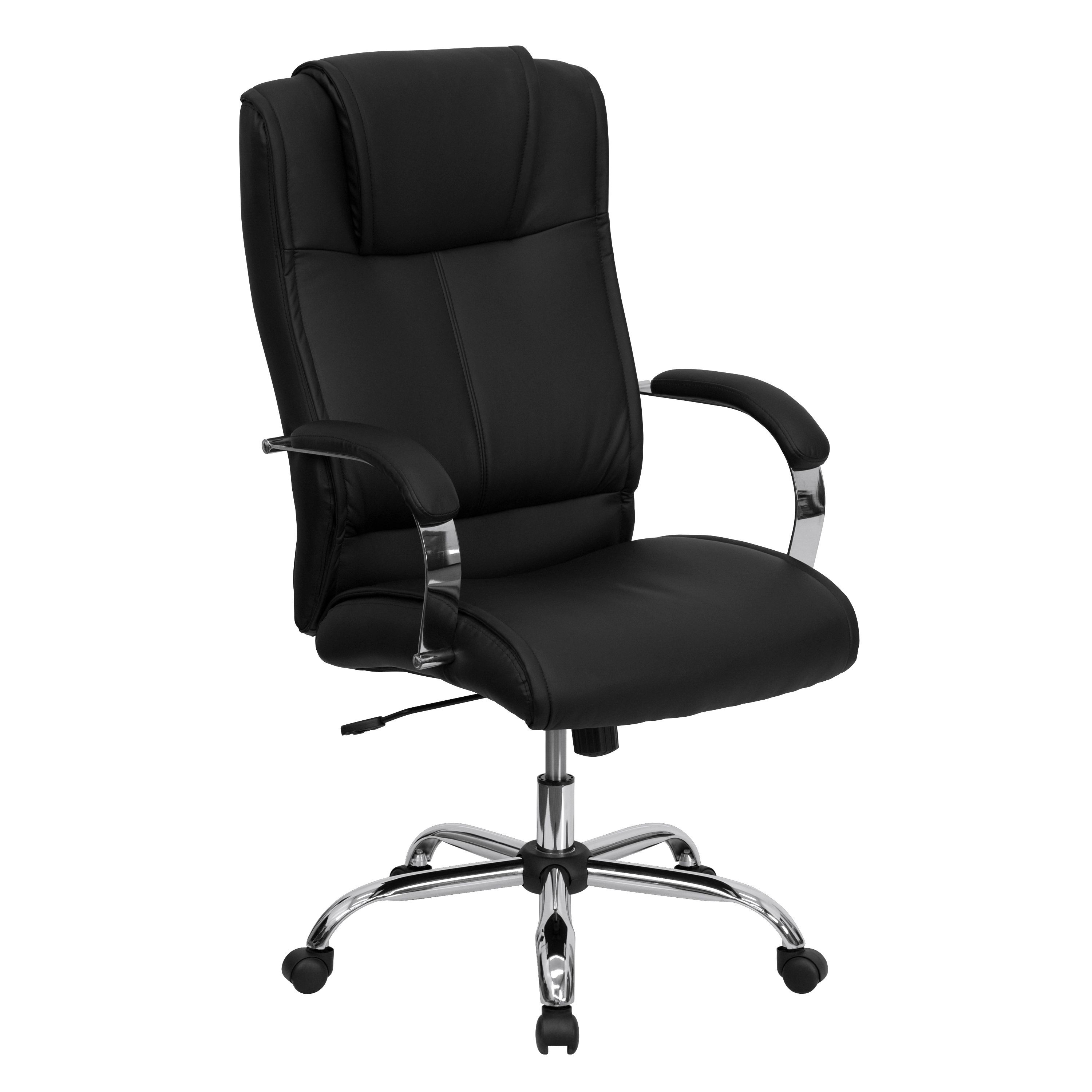 Black Leather High-Back Executive Office Chair