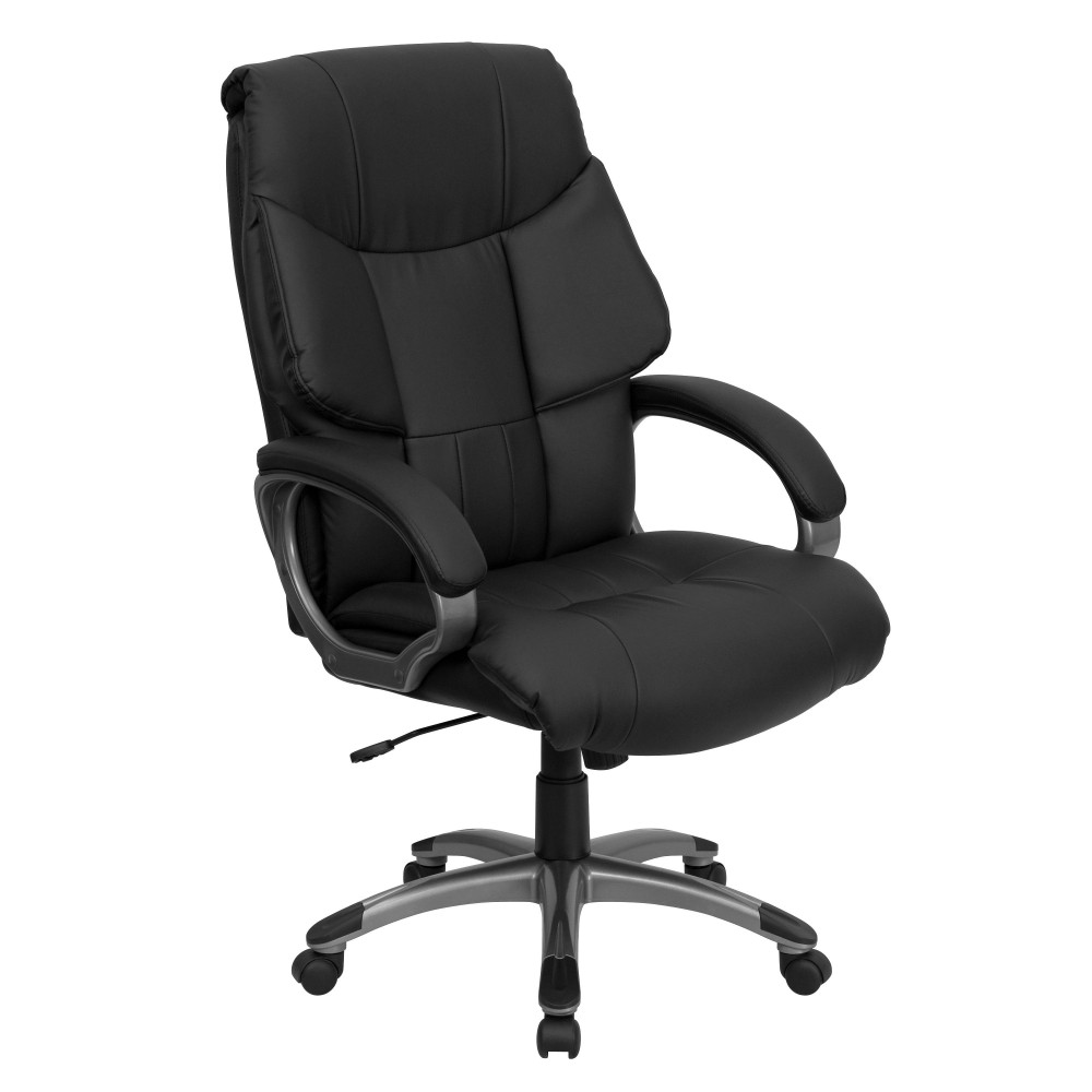 Leather High Back Executive Office Chair-Black
