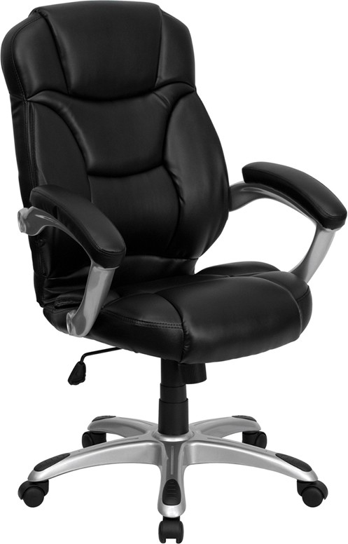 Black Leather  Office Chair, High Back