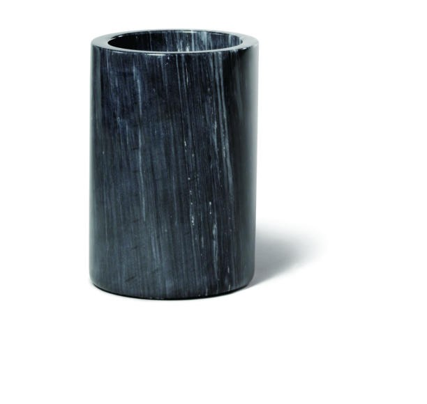 "TableCraft 5488 Black Marble Wine Cooler 5"" x 7"""