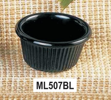 Thunder Group ML507BL Black Melamine1.5 oz. Fluted Ramekin 2-1/2""