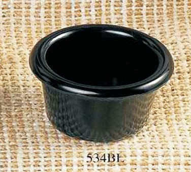 Thunder Group ML534BL Black Melamine 1-1/2 oz. Smooth Ramekin