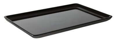 """G.E.T. Enterprises ML-179-BK Bake and Brew Black Melamine 11.69"""" x 7.88"""" Rectangular Platter"""