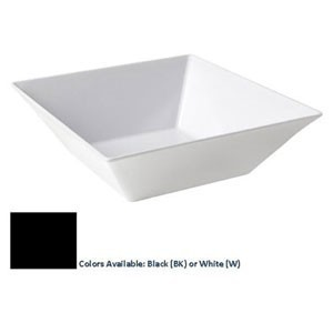 G.E.T. Enterprises ML-238-BK Siciliano Black 14 oz. Square Bowl, 5""