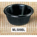 Thunder Group ML509BL Black Melamine 2 oz. Fluted Ramekin 2-7/8""
