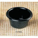 Thunder Group ML535BL Black Melamine 2 oz. Smooth Ramekin 2-1/2""