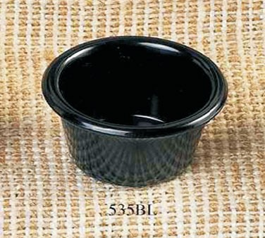 Thunder Group ML535BL Black Melamine 2 oz. Smooth Ramekin