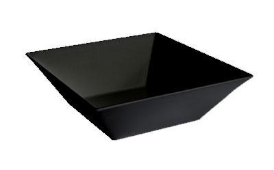 G.E.T. Enterprises ML-250-BK Siciliano Black 20.4 Qt. Square Bowl 17-3/4""