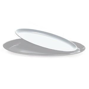 "G.E.T. Enterprises ML-252-BK Siciliano Black 20 oz. 16"" x 5"" Oval Platter"