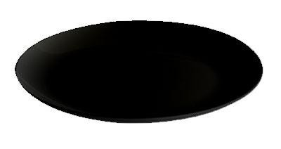 "G.E.T. Enterprises ML-243-BK Siciliano Black 24"" Round Display Plate"